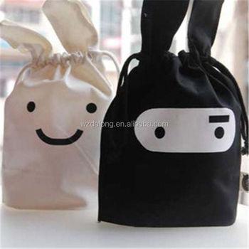 32a8642915e2 Korean Style Korean Style Rabbit Bunny Small Cute Pocket Bag Black White  Shopping Bag - Buy Canvas Shopping Bag Blank,Canvas Military Bags,Backpack  ...
