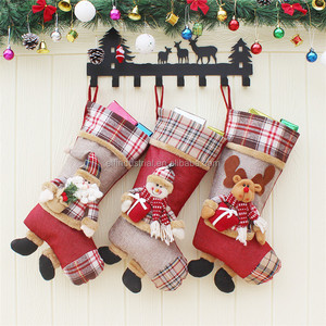 High quality christmas man gifts cute sock christmas stocking for decoration home in stock