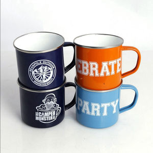 Best Gift For Friends Christmas Ceramic Enamel Mug With Logo Printing