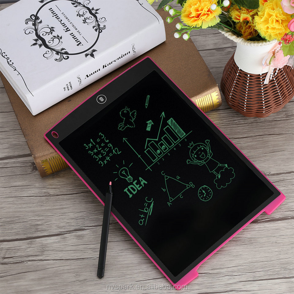 8 10 12 Inch Lcd Panel Messge Board Erazer Lock Button Writng Board Writing Tablet Gifts For Children Business