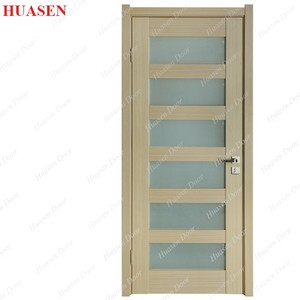 32x80 inch cool interior wood door with glass