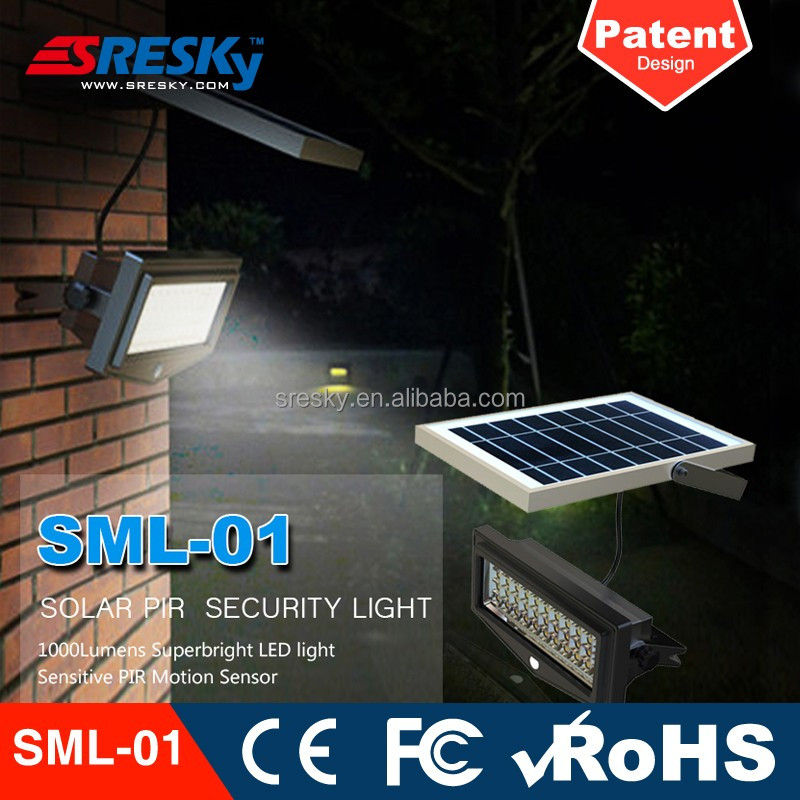 Shenzhen manufacturer 10w pure white solar powered flood light dusk to dawn with motion sensor,exterior solar wall lights