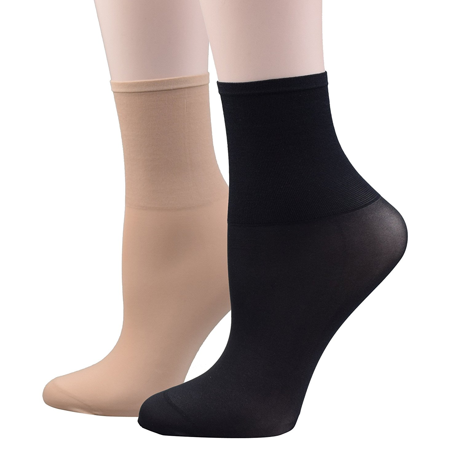 cc5d967a5 Get Quotations · Fitu Women's 12 Pairs Nylon Ankle High Tights Hosiery Socks