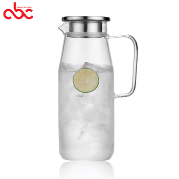 Glass Pitcher With Lid Covered Gallon Iced Tea Pitcher Lidded Water