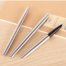 Manufacturer Promotion gift calligraphy pen good quality cheap metal fountain pen with engraved logo