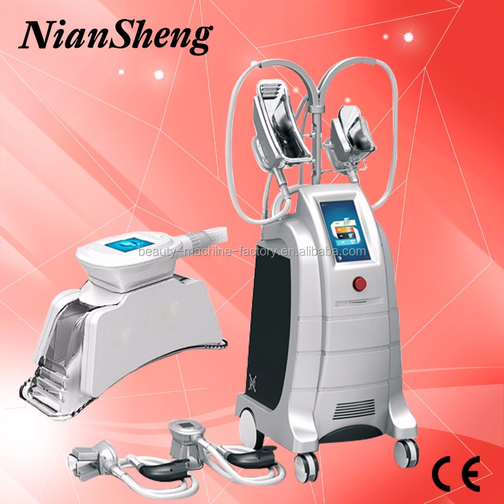 CE approved Multifunctional vaccum 4 heads fat freezing machine