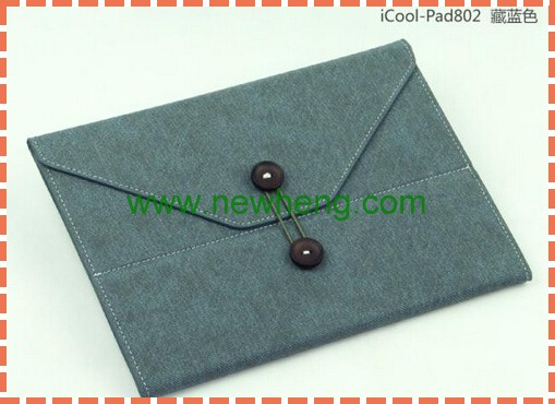 Wholesale charm envelope leather case for ipad 2/3/4