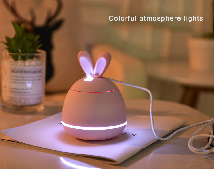 Home Appliances Rabbit Shape Cool Mist 200ml Usb Small Rechargeable Humidifier
