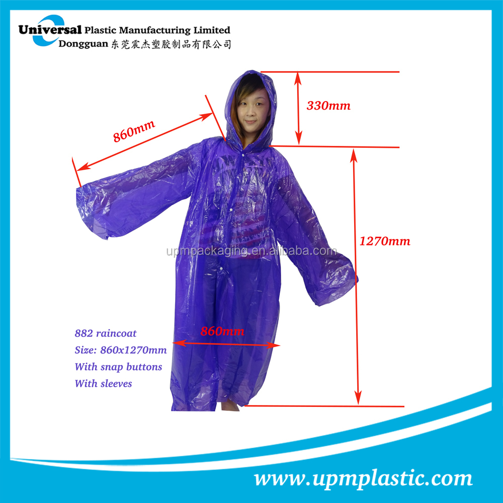 emergency lightweight pocket size hooded waterproof raincoat
