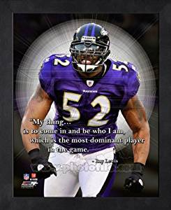 Ray Lewis Baltimore Ravens Pro Quotes Framed 8x10 Photo