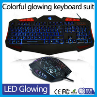 12 years factory direct LED light gaming computer keyboard and mouse
