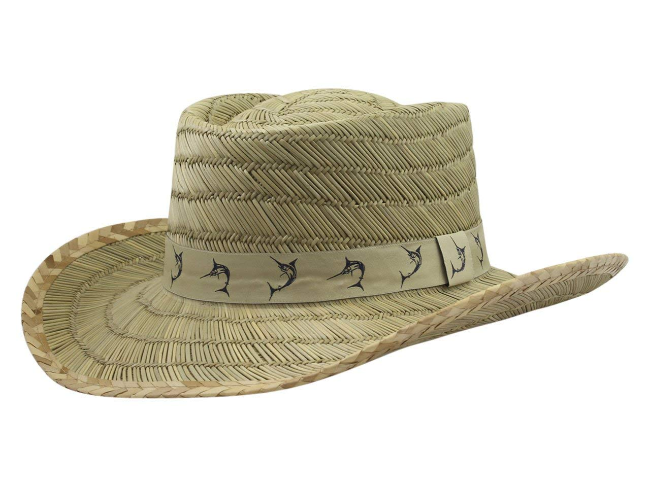 Get Quotations · Dorfman-Pacific RUSH GAMBLER W MARLIN TAPE Mens  Headwear-Assorted-Natural f6f72455e8a2