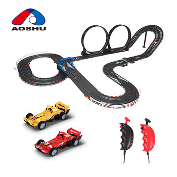 Children favorite funny hobbie electric 1:43 scale rc track car slot toys by wire control