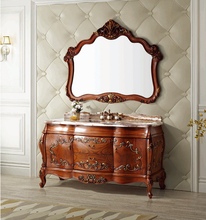 Antique marble stone countertop classical bathroom furniture european bathroom furniture
