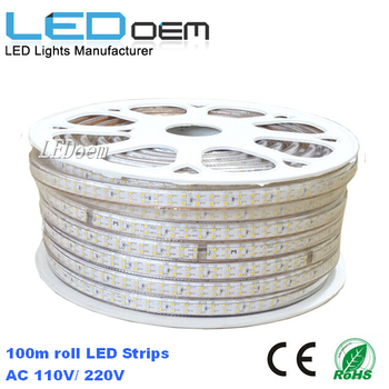 double row 2835 led strip 180led/m 18W/m IP67 waterproof