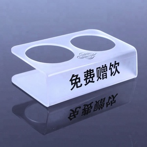 White color customize display bottle holder acrylic wine display