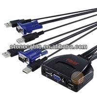 SYBA USB 2-Port KVM Switch w/Remote