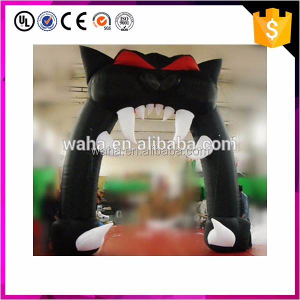 Halloween decoration use inflatable cat arch
