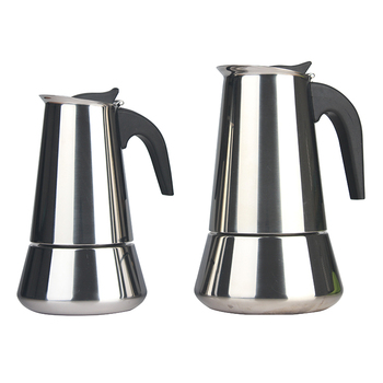 2 4 6 10 cup Stainless Steel Stovetop Moka Pot / Italian Espresso Coffee Maker