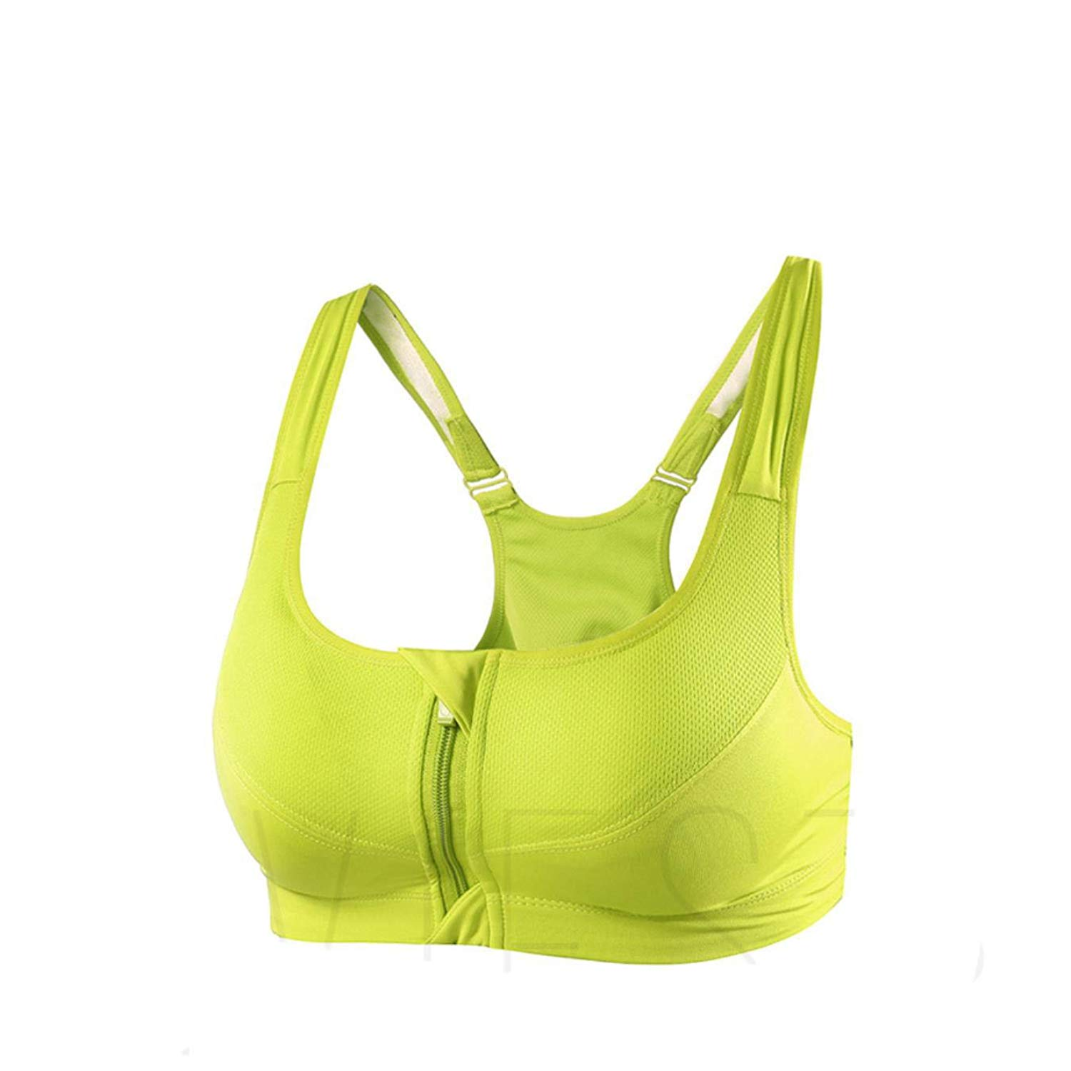 c02ad68d2f6 Get Quotations · Front-Close Sports Bra Color Colorful Yoga Gym Jogging  High Support Zipper Bra Top