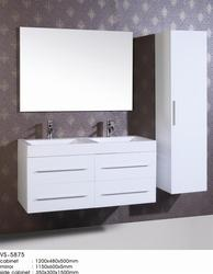 waterproof pvc MDF hotel modern luxury commercial double sink tona 36inch white hotel bathroom vanity