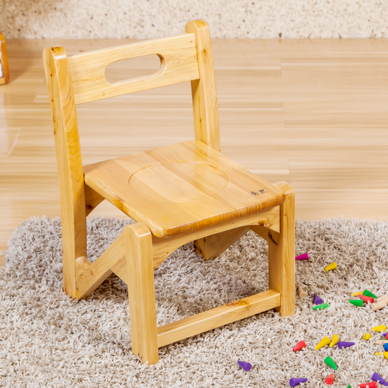 Chinese Natural Color Kids Wooden Step Stool On Wholesale