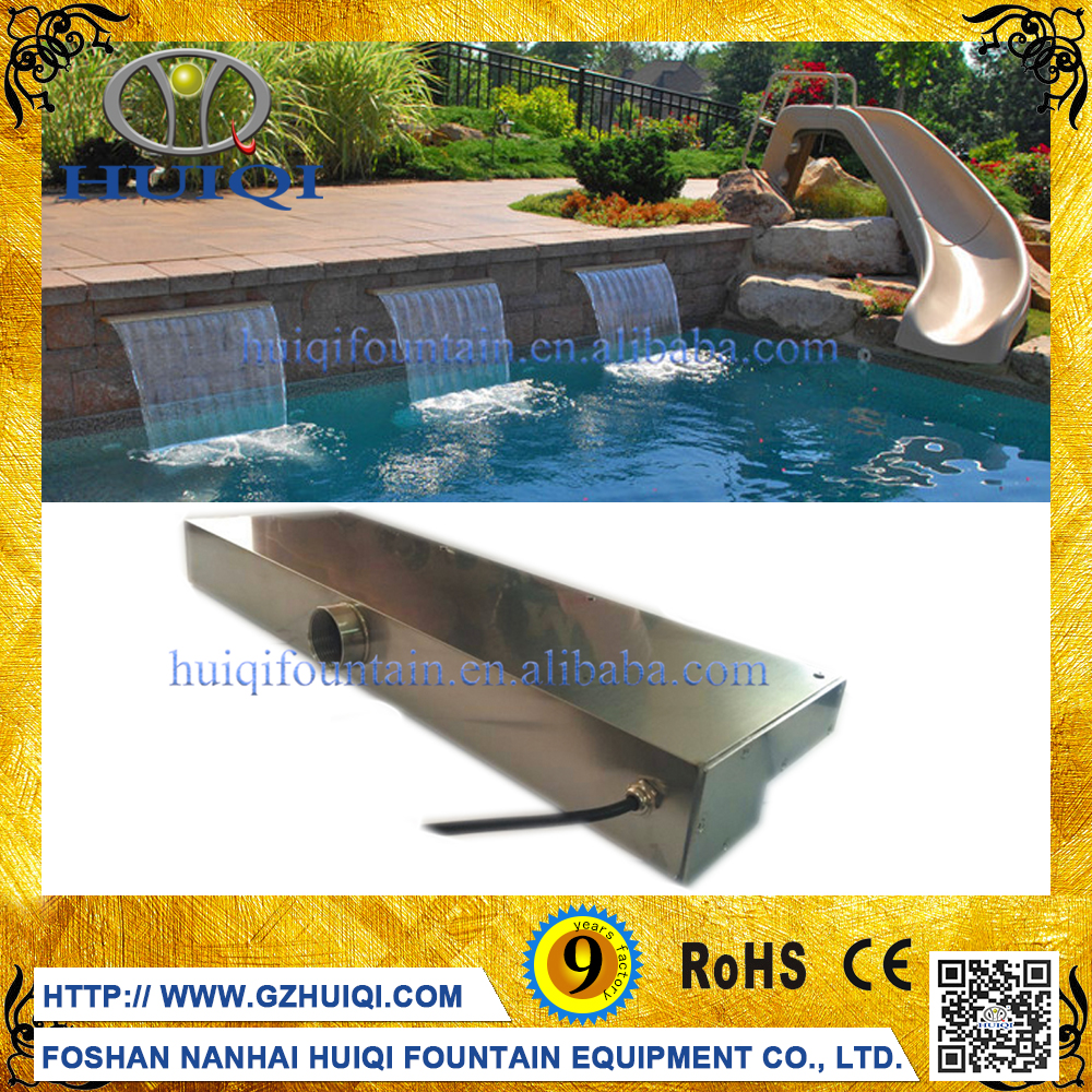 Wholesale Colorful Swimming Pool Waterfall Fountain Led Small