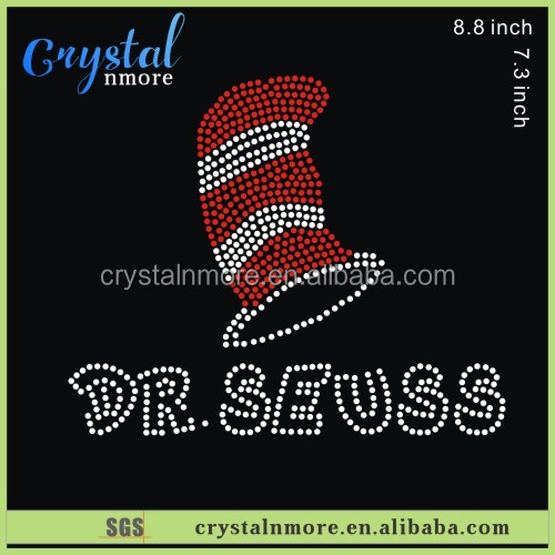 Dr Seuss Rhinestone Iron On Diamante Transfer for t shirt