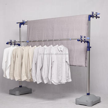 Laundry Drying Rack Indoor Outdoor Clothes Line Dryer Clothing