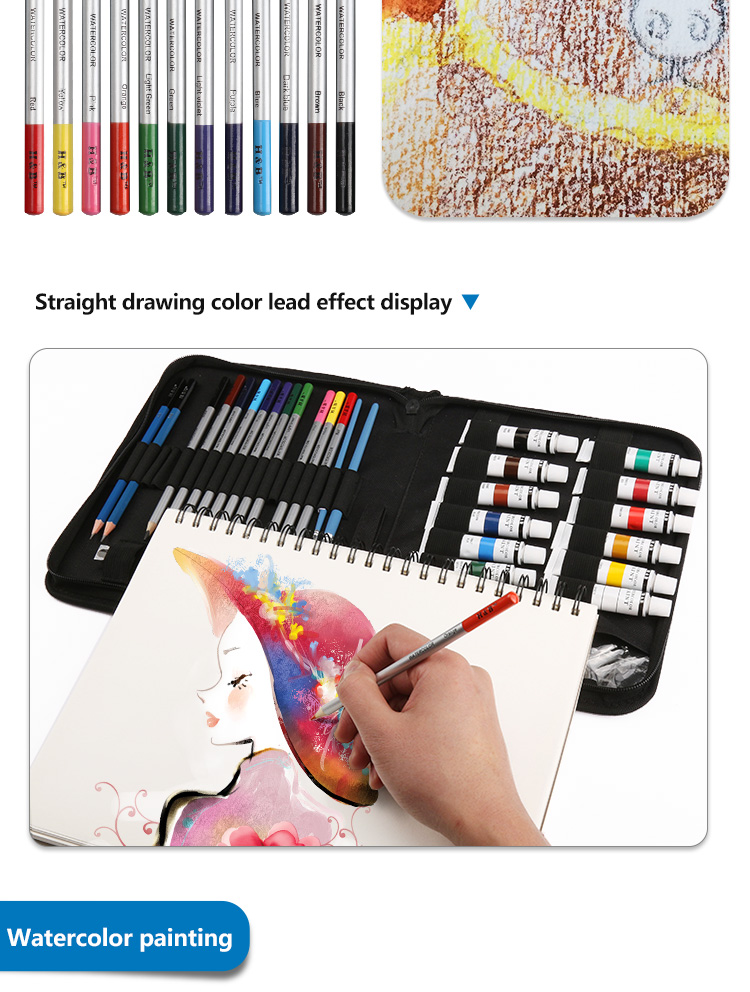 31pcs artists drawing watercolor paint brush set