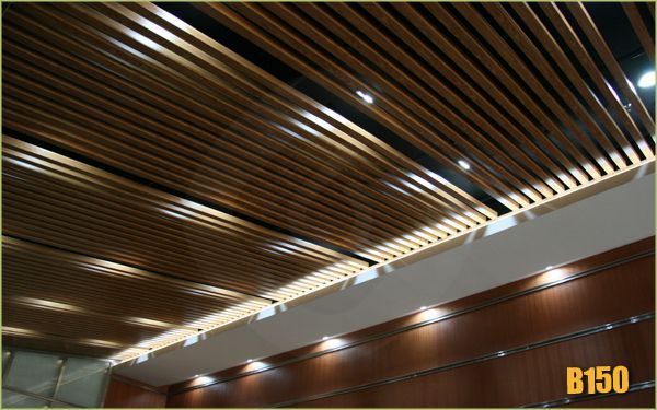 Exterior wood strip ceiling phrase