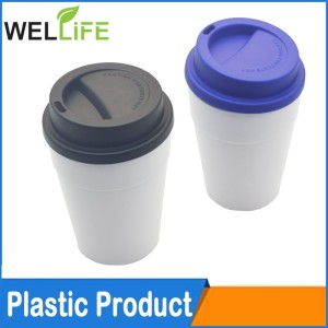 Promotional gifts Customized insulated Brand Travel plastic Coffee Mug