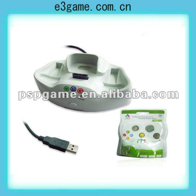 Original PC Wireless Game Receiver with Docking Charger station for xbox-360 game console