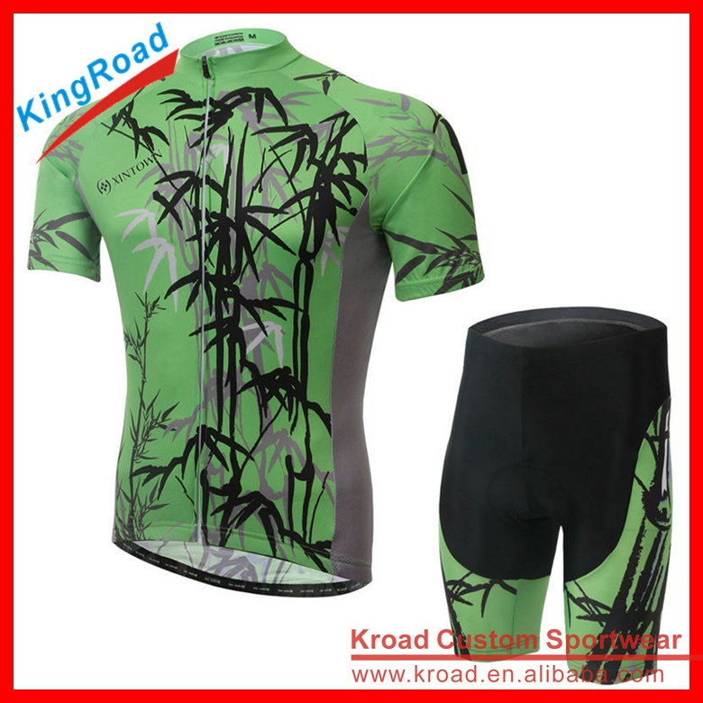 Kroad Customized Sublimation cycling jersey men's and bibs, bicycle apparel manufacturer, design your own bike wear clothing