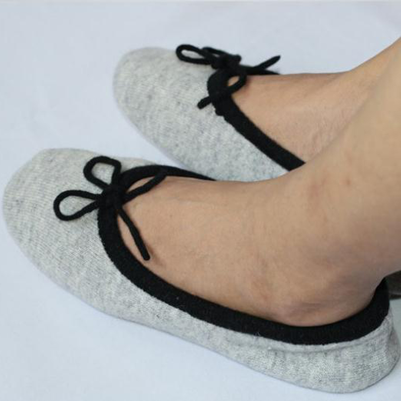 House Women's Shoes Cashmere Slippers Ballerina Knitted Elegant Indoor BqXn8qSA