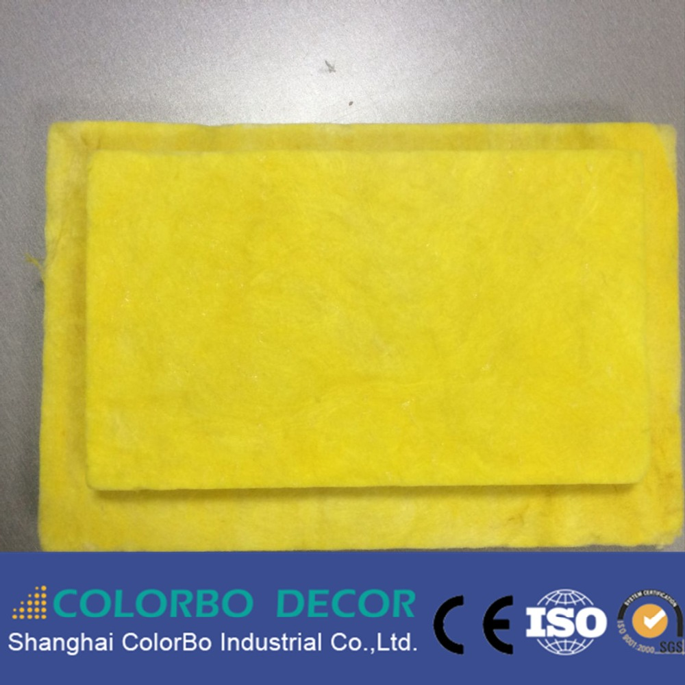 Sound absorption fiber glass wool panel/plate used as construction material
