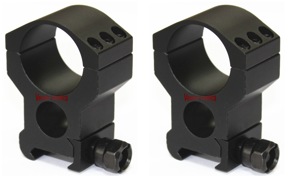 Vector Optics 30mm Heavy Duty Extreme High Picatinny Scope Mount Ring 6 Bolts per Ring