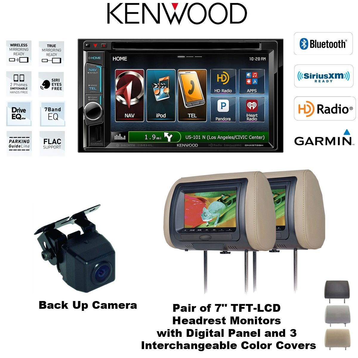 Cheap 2014 Kenwood Navigation Find Deals On Kna G610 Wiring Diagram Get Quotations Dnx572bh In Dash Double Din 62 Dvd Receiver With Two Cls700x Headrest Monitors