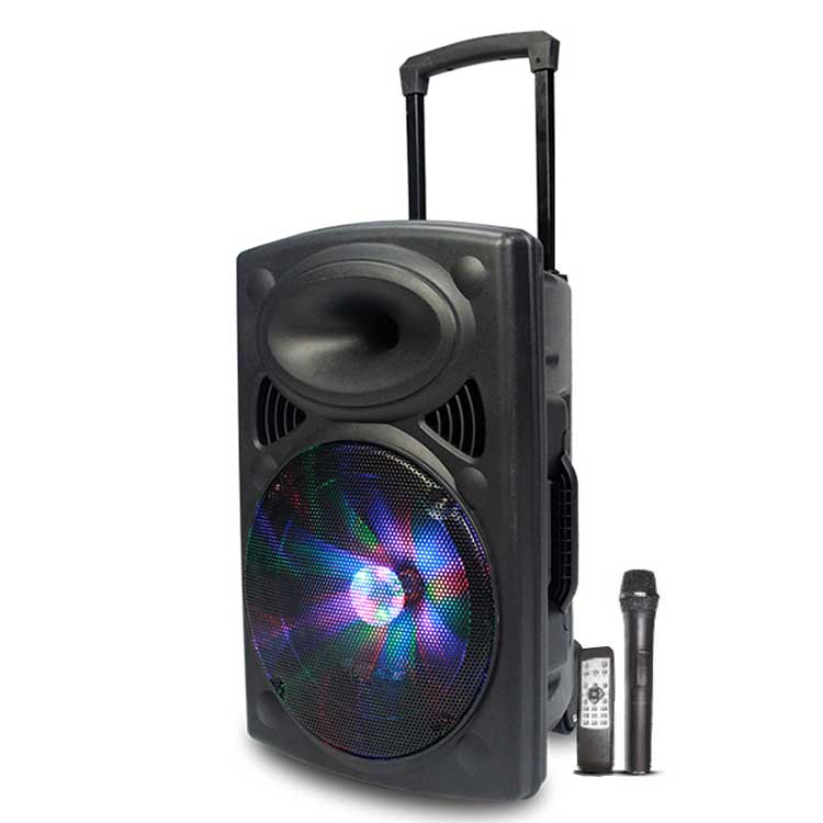 Rechargeable Battery Bluetooth Outdoor Karaoke Amplifier <strong>Speaker</strong> with Led Light