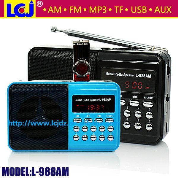 L-988am Portable Mini Mp3 Radio,Mini Am/fm Radio Mp3 Player