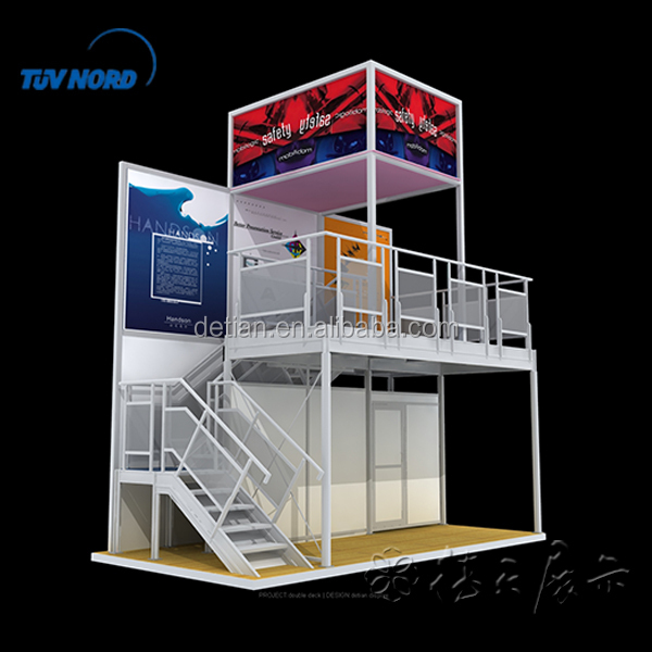 Double Deck Aluminum Extrusion Stall System For Trade Show Display ...