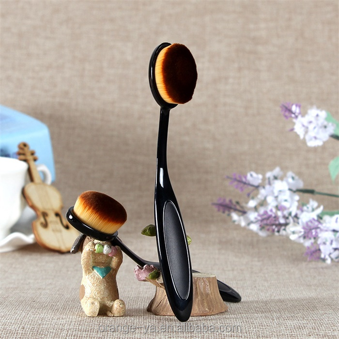 toothbrush makeup brush with anti-sikd handle easy bend brush head