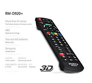Replacement TV Remote Control for Panasonic LCD - LED or PLASMA TVs RM-D920. Its a *BRAND NEW* ULTRA HIGH QUALITY Universal Remote for Panasonic brand. The remote looks like the original and will work as well as the original. It could directly control 99% models of Panasonic brand. Supported
