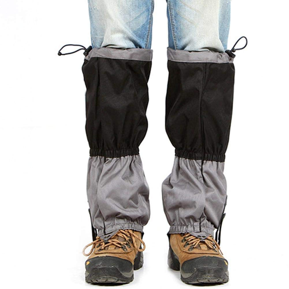 RONDA Waterproof Outdoor Snow Legging Gaiters 600D Anti-Tear Oxford Fabric Boot Gaiters for Outdoor Hiking Walking Hunting Climbing