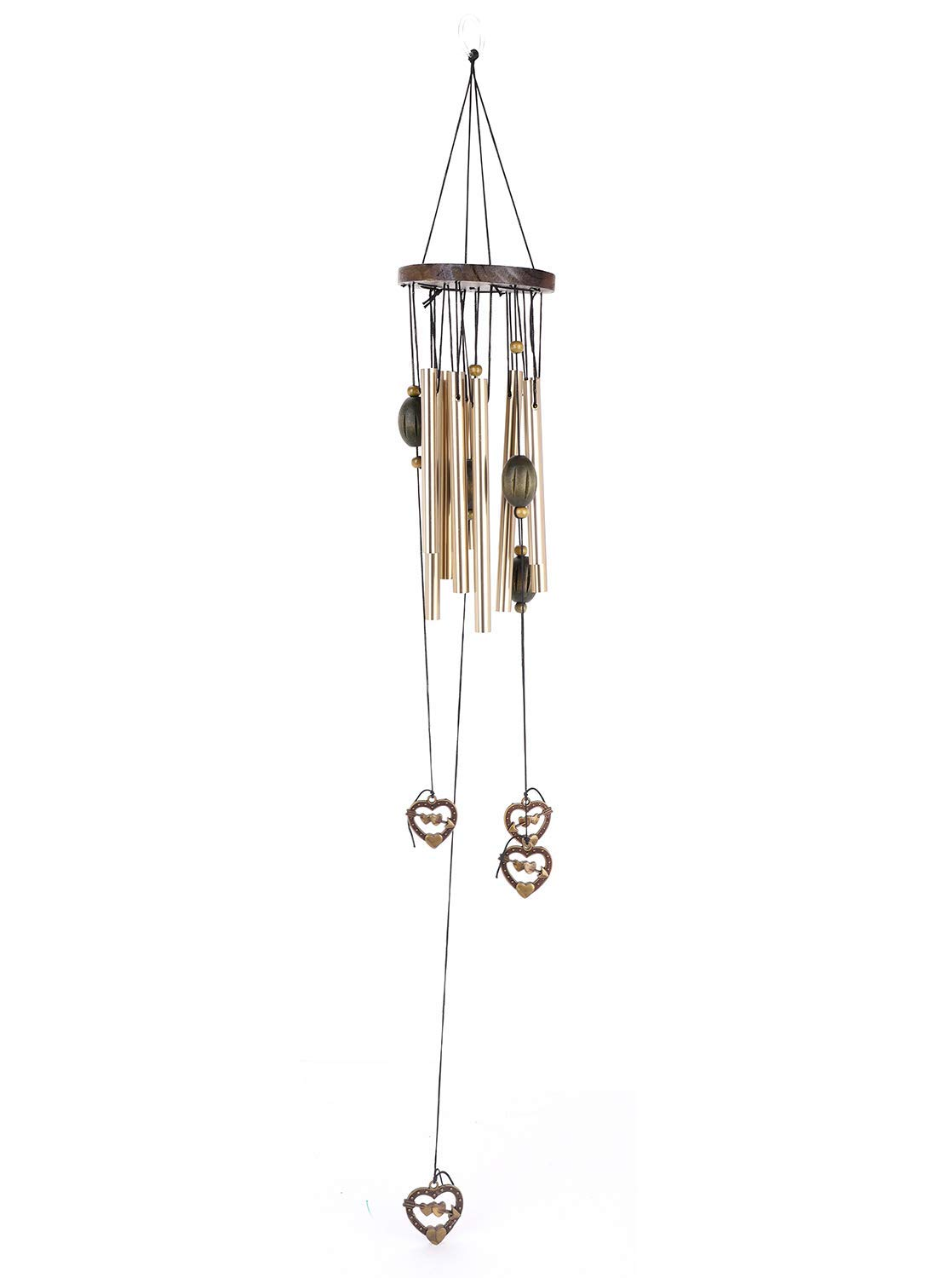QCHOMEE Love Heart 9 Tubes Wind Chimes Personalized Memorial Gift Antique Metal Multi-Tube Anti-Rust Wind Bells Outdoor Living Yard Garden Decor Wind Chimes