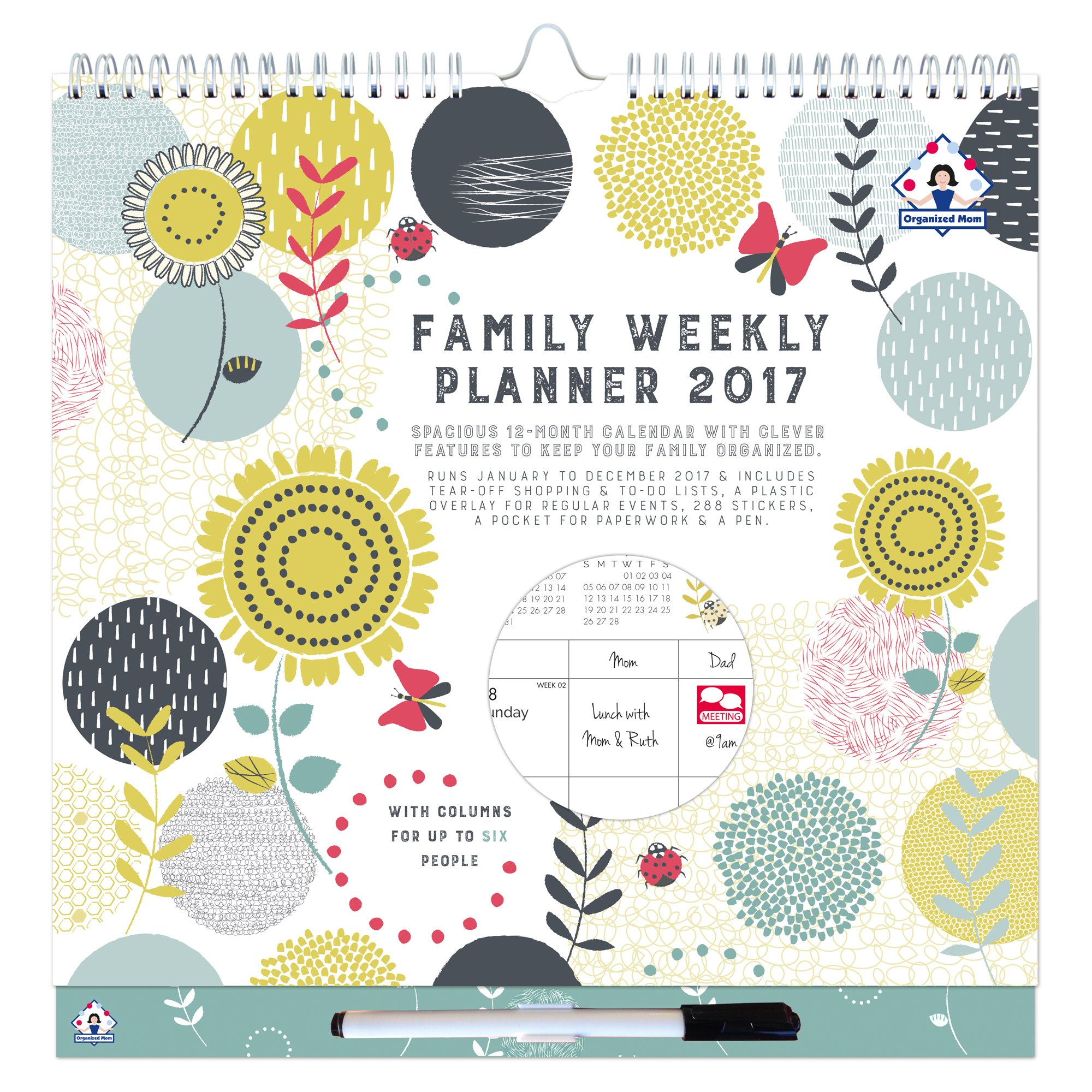buy 2017 organized mom family weekly planner week to view family