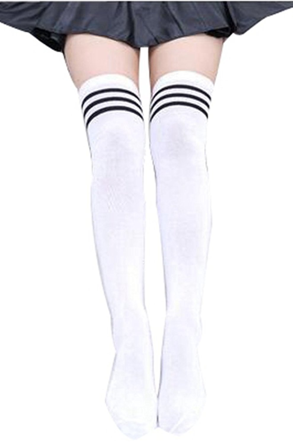 d91022ef3 Get Quotations · BlingZoe Sexy Over Knee Thigh High Boot Socks Tube Socks  Cosplay Socks