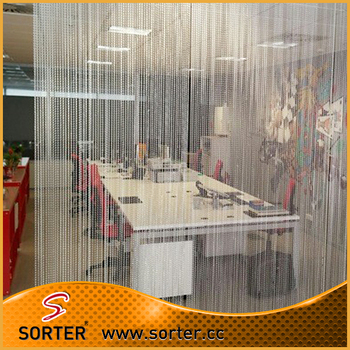 Bottom Price Metal Beaded Chain Curtainroom Divider For Night Club