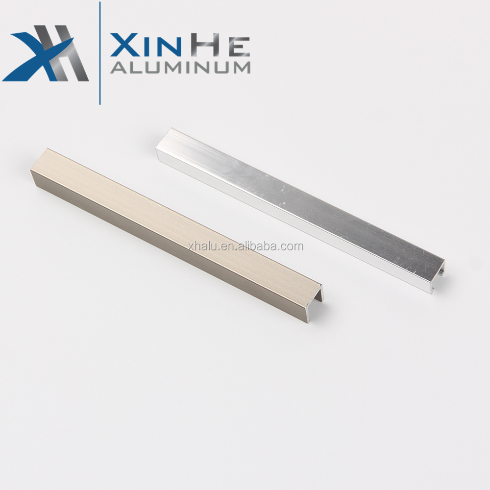 Foshan Producer Bathroom Kitchen Anodized Floor & Corner Types Of Frosted Aluminum Tile Trim Profile Aluminum Profiles