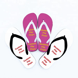 Custom wedding white flip flop for women guests